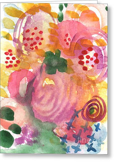 Commercials Mixed Media Greeting Cards - Abstract Garden #44 Greeting Card by Linda Woods