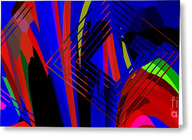 Best Sellers -  - Geometric Effect Greeting Cards - Abstract Geometric Art Greeting Card by Mario  Perez