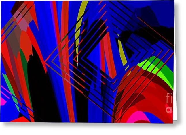Abstract Geometric Art Greeting Card by Mario Perez