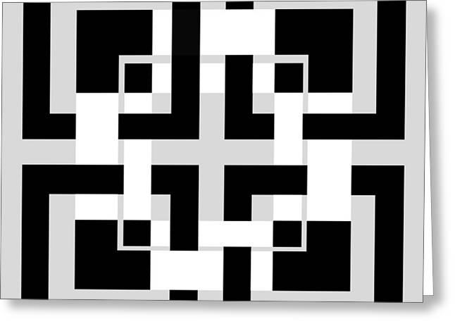 abstract geometric  Greeting Card by Mark Ashkenazi