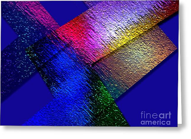 Transparency Geometric Digital Greeting Cards - Abstract geometry Art  Greeting Card by Mario  Perez