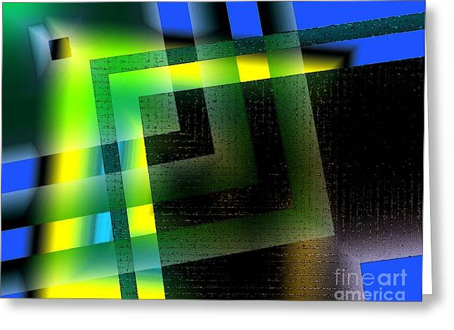 Abstract Geometry With Effects And Transparency Greeting Card by Mario Perez