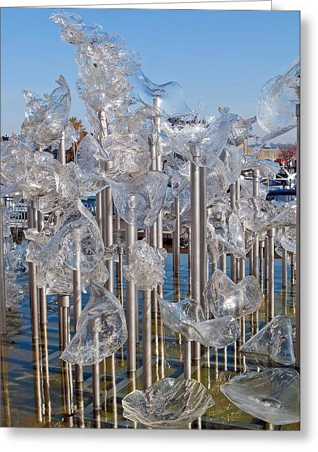 """glass Museum"" Greeting Cards - Abstract Glass Art Sculpture Greeting Card by Roger Reeves  and Terrie Heslop"