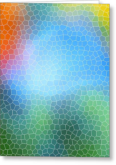 Assorted Mixed Media Greeting Cards - Abstract Glass Pattern Greeting Card by Christina Rollo