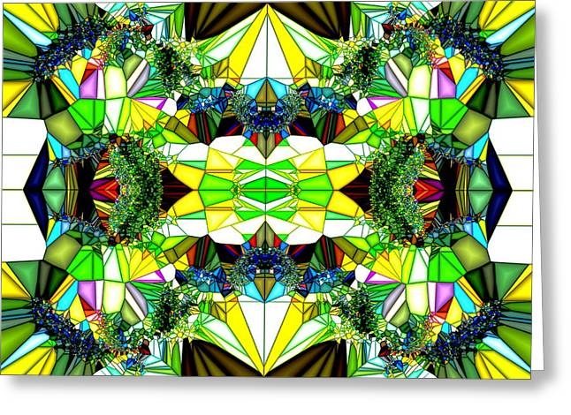 Abstract Glass Greeting Card by Ronald T Williams
