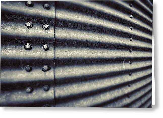 Grain Greeting Cards - Abstract Grain Silo Greeting Card by Thomas Zimmerman