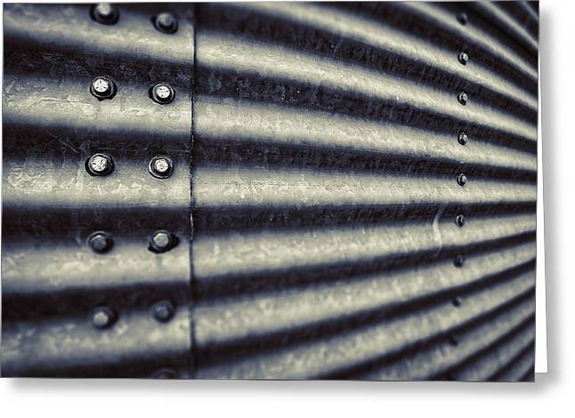 Grained Greeting Cards - Abstract Grain Silo Greeting Card by Thomas Zimmerman