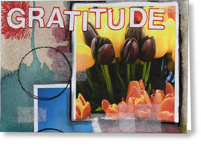Thank You Greeting Cards - Abstract Gratitude Greeting Card by Linda Woods