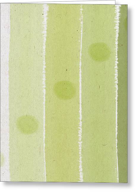 Art Decor Greeting Cards - Abstract Green Greeting Card by Aged Pixel