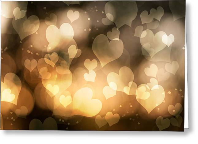 Valentine Greeting Cards - Abstract Hearts Greeting Card by Amanda And Christopher Elwell
