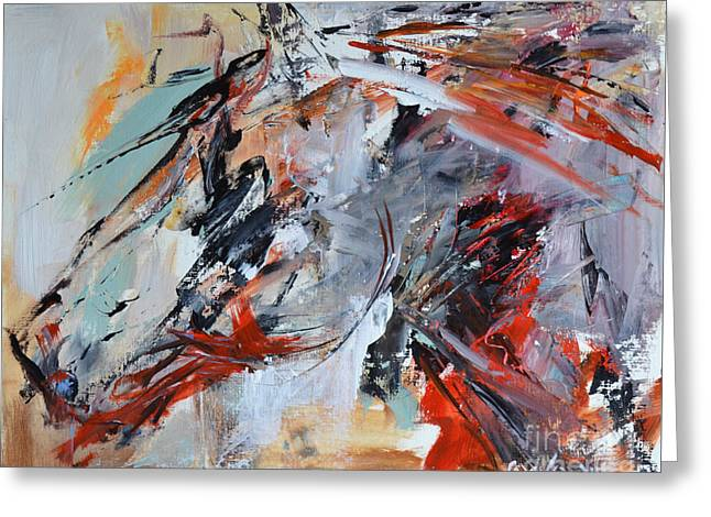 Abstract Horse 1 Greeting Card by Cher Devereaux
