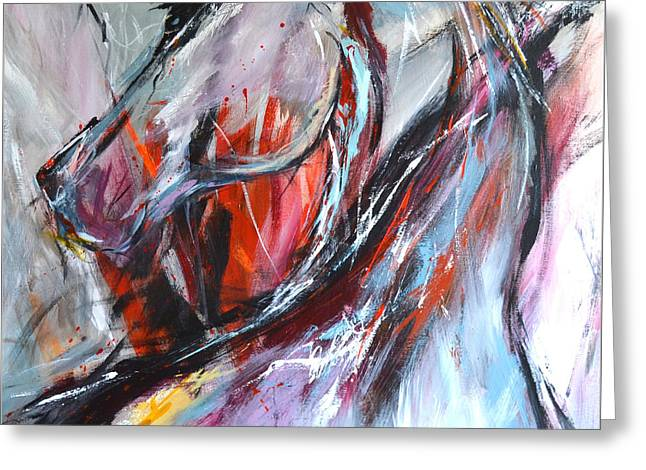 Abstract Horse 4 Greeting Card by Cher Devereaux