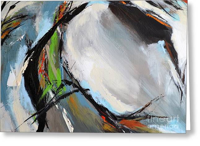 Abstract Horse 6 Greeting Card by Cher Devereaux