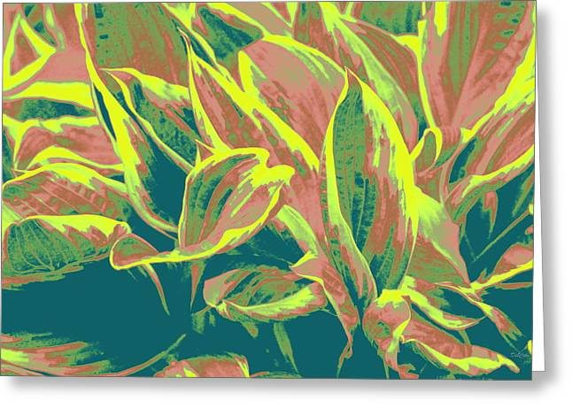 Hostas Greeting Cards - Abstract - HostaTakeover Greeting Card by Deborah  Crew-Johnson