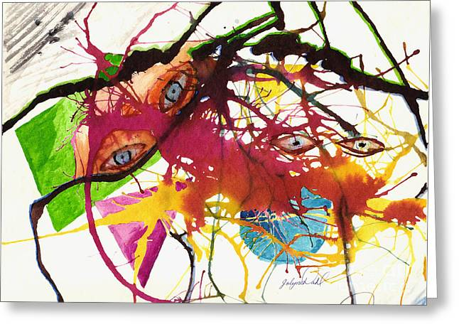 Look Within Greeting Cards - Abstract I Am Greeting Card by Jolyne Tarver