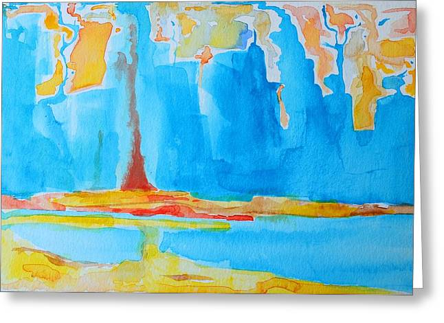 Staging Art Greeting Cards - Abstract II Greeting Card by Patricia Awapara