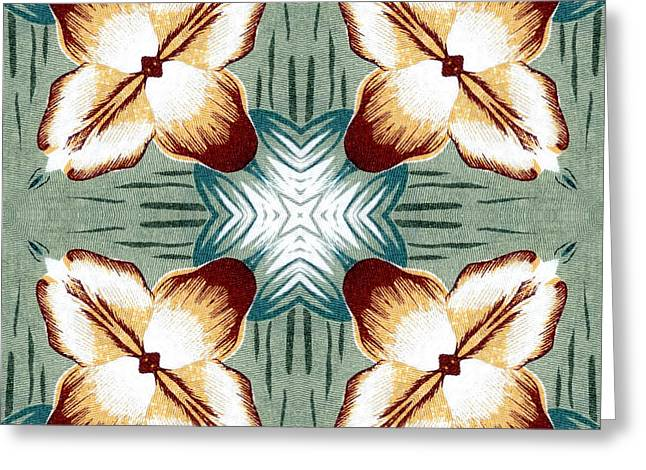Improvisation Greeting Cards - Abstract Impressions in Digital Needle Point Greeting Card by Ed Churchill