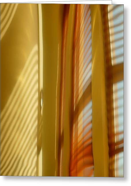 Distortion Greeting Cards - Abstract In Brass #5 - Historic Library Building - Omaha Nebr Greeting Card by Nikolyn McDonald