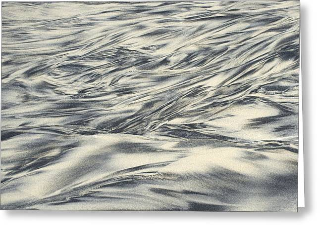 Playa Blanca Greeting Cards - Abstract in sand Greeting Card by Hugh Smith
