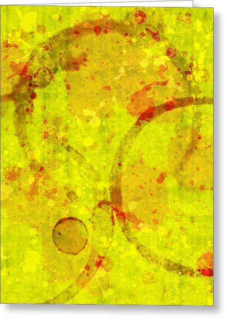 Lisa Noneman Greeting Cards - Abstract Ink and Water Stains Greeting Card by Lisa Noneman