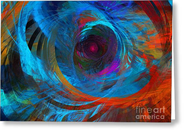 Abstract Jet Propeller Greeting Card by Andee Design