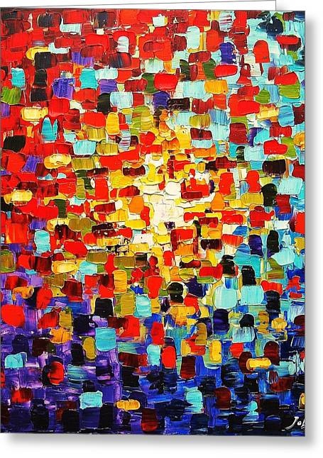 Jolina Anthony Greeting Cards - Abstract Greeting Card by Jolina Anthony