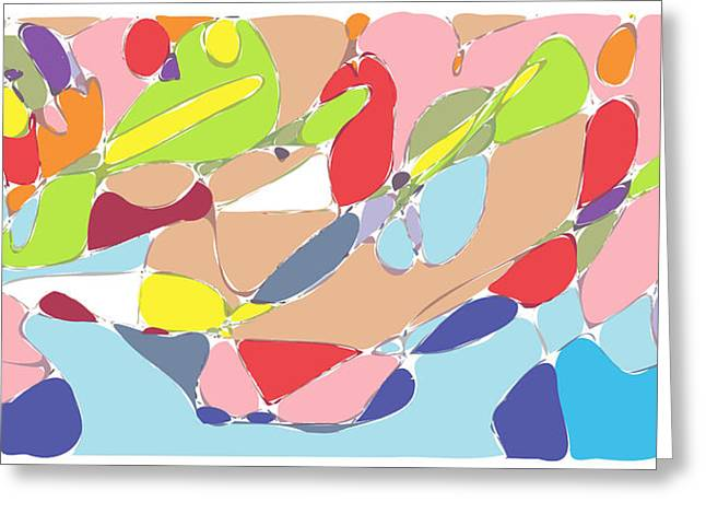 Keshava Greeting Cards - Abstract Greeting Card by Keshava Shukla