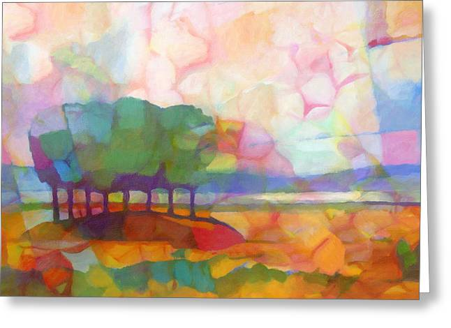 Abstract Expressionist Greeting Cards - Abstract Landscape Greeting Card by Lutz Baar