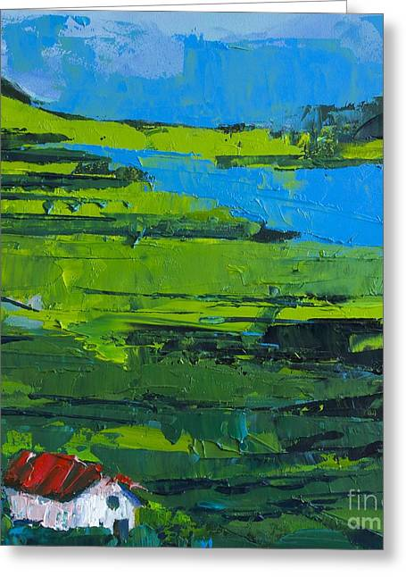 Abstract Landscape No 3 Greeting Card by Patricia Awapara