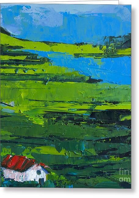 Abstracto Greeting Cards - Abstract Landscape No 3 Greeting Card by Patricia Awapara