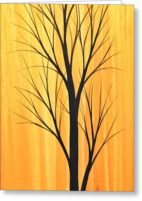 Sunset Prints Greeting Cards - Abstract Landscape Original Trees Art Print Painting ... Twilight Trees #2 Greeting Card by Amy Giacomelli