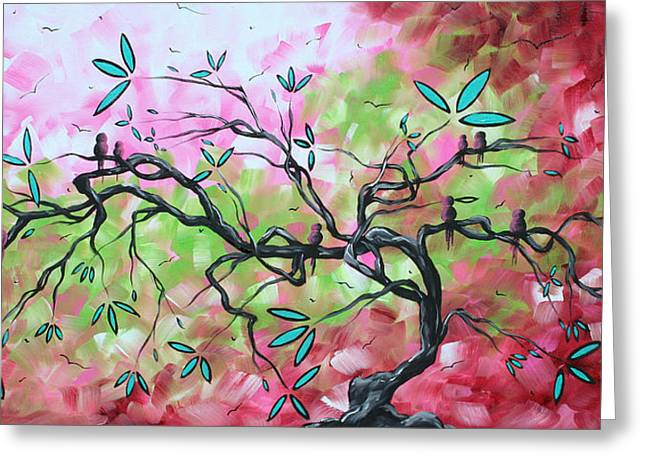 Huge Art Greeting Cards - Abstract Landscape SWEET SOUNDS OF SPRING by MADART Greeting Card by Megan Duncanson