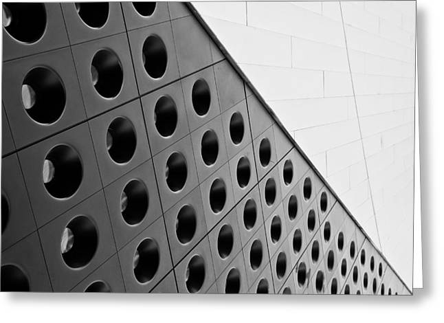 Geometric Shape Greeting Cards - Abstract Las Vegas Greeting Card by Niels Nielsen
