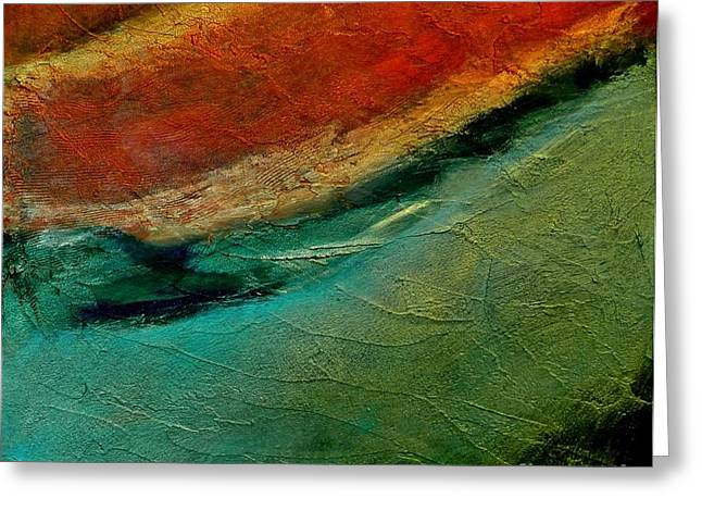 Deep Layer Greeting Cards - Abstract Layers Two Greeting Card by Marsha Heiken