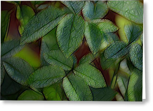 Abstract Leaves Greeting Card by Ronald T Williams