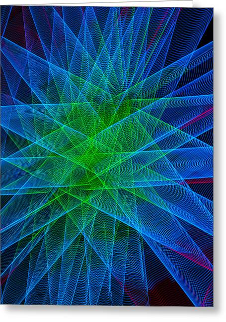Radiance Greeting Cards - Abstract Lights Number 5 Greeting Card by Garry Gay