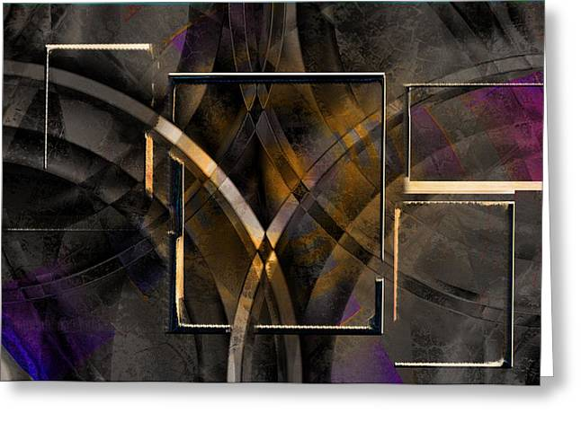 Light And Dark Greeting Cards - Abstract Lines Greeting Card by Art Di