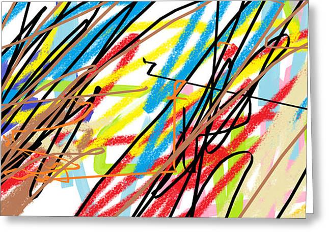 Giuseppe Epifani Greeting Cards - Abstract - made by Matilde 4 years old Greeting Card by Giuseppe Epifani
