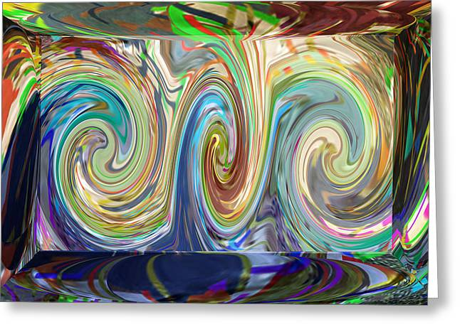 Amazing Stories Greeting Cards - Abstract Marble Stone shows beautiful wave torndo pattern dipcting colors go  deep insite the dept   Greeting Card by Navin Joshi