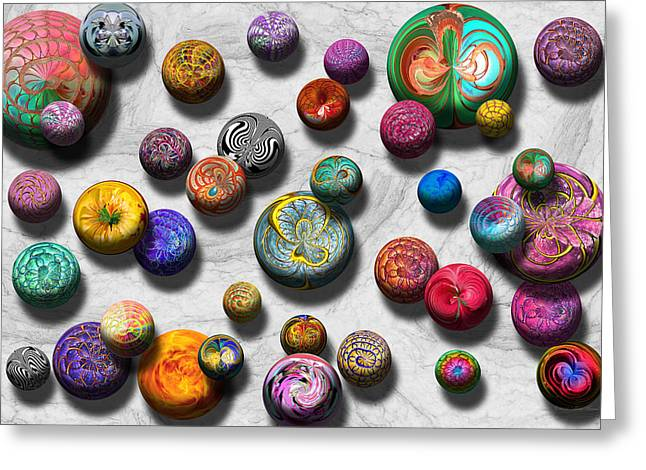 Interesting Pattern Greeting Cards - Abstract - Marbles Greeting Card by Mike Savad