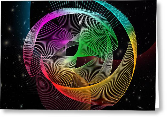 Surreal Geometric Greeting Cards - Abstract  Greeting Card by Mark Ashkenazi
