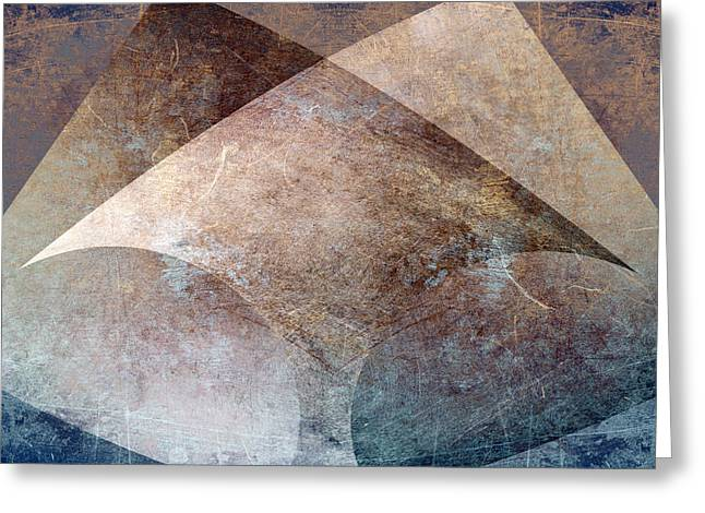 Sharp Points Digital Greeting Cards - Abstract metal Greeting Card by Steve Ball