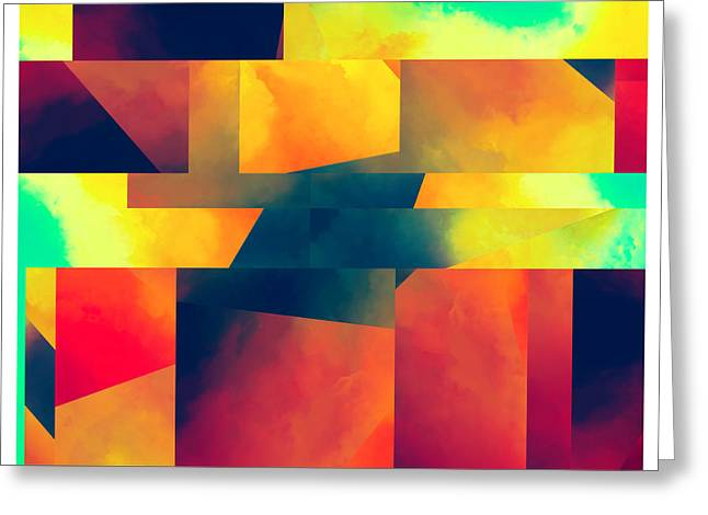 Sorrow Digital Art Greeting Cards - Abstract Movement Greeting Card by LC Bailey
