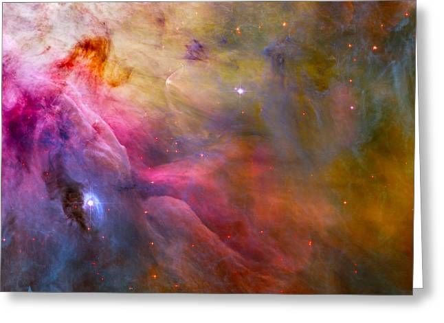 Constellations Greeting Cards - Abstract Nebula Greeting Card by Hubble Telescope