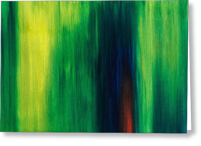 Outlook Paintings Greeting Cards - Abstract No 1 Initium Novum Greeting Card by Brian Broadway