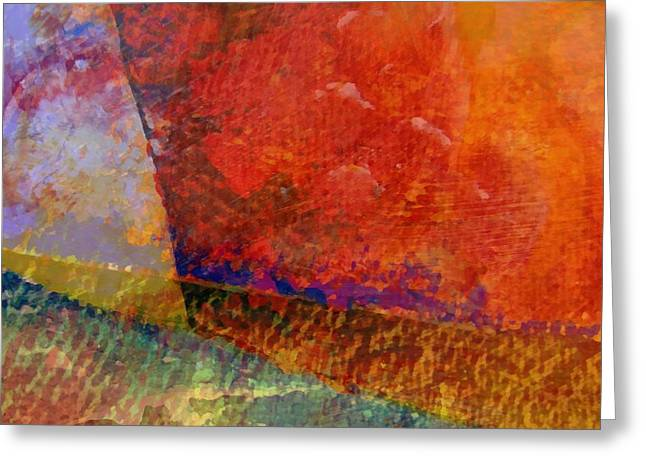 Dribble Greeting Cards - Abstract No. 1 Greeting Card by Michelle Calkins