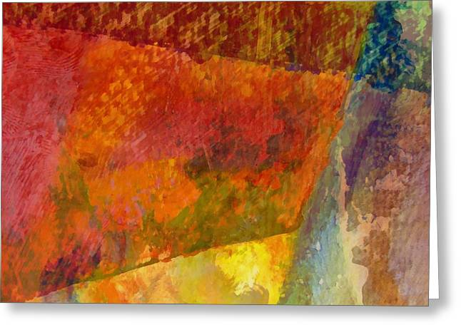 Dribble Greeting Cards - Abstract No. 2 Greeting Card by Michelle Calkins