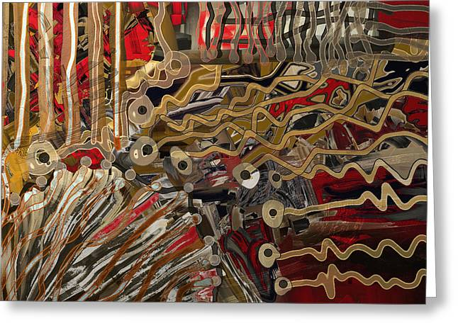 Shesh Tantry Greeting Cards - Abstract no. 201 Greeting Card by Shesh Tantry