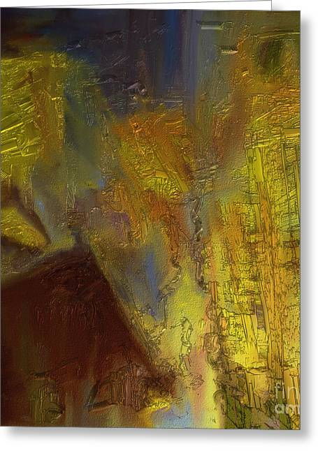 Shesh Tantry Greeting Cards - Abstract no. 228 Greeting Card by Shesh Tantry