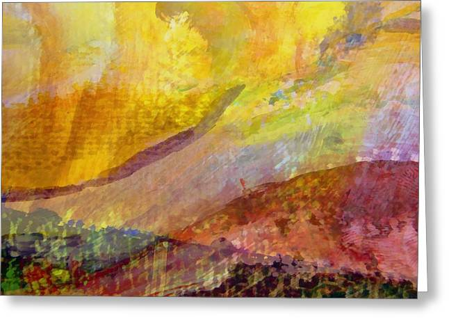 Dribble Greeting Cards - Abstract No. 3 Greeting Card by Michelle Calkins